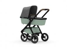 Universalus vežimėlis Dubatti 2in1 Black/Melange Green/ Melange Grey