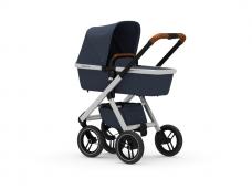 Universalus vežimėlis Dubatti 2in1 Silver/ Navy Melange/ Navy Melange ekspo