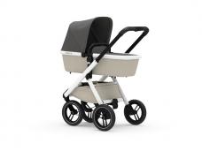 Universalus vežimėlis Dubatti 2in1 White/ White/ Grey Melange EKSPO