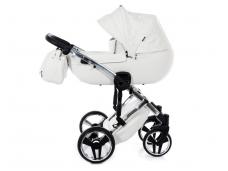 Universalus vežimėlis Junama Enzo go 2in1 silver / white