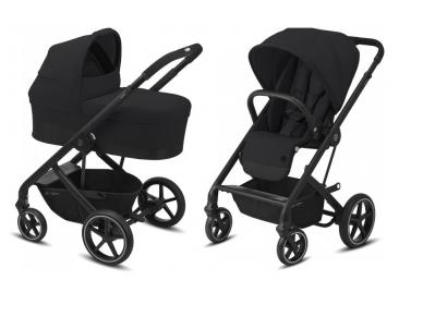 Universalus vežimėlio komplektas 2in1 Cybex Balios S Lux Deep Black / Black  3