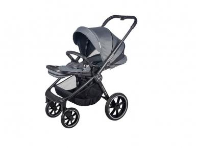 Universalus vežimėlio komplektas 2in1 Muuvo Carbon Graphite 2.0 Rocky Grey XL lopšys 2