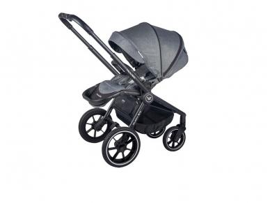 Universalus vežimėlio komplektas 2in1 Muuvo Carbon Graphite 2.0 Rocky Grey XL lopšys 4