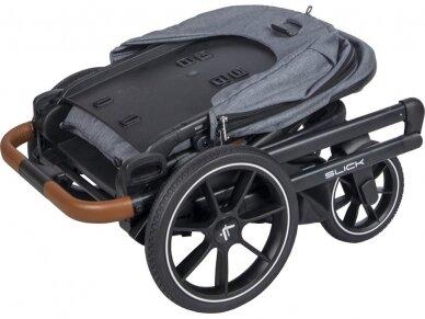 Universalus vežimėlio komplektas 2in1 Muuvo SLICK Rocky Grey XL lopšys 6