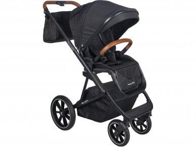 Universalus vežimėlio komplektas 2in1 Muuvo SLICK Black XL lopšys 2