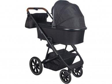 Universalus vežimėlio komplektas 2in1 Muuvo SLICK Black XL lopšys 4