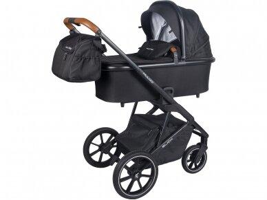 Universalus vežimėlio komplektas 2in1 Muuvo SLICK Black XL lopšys 5