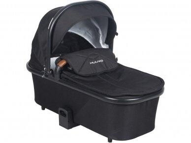 Universalus vežimėlio komplektas 2in1 Muuvo SLICK Black XL lopšys 6