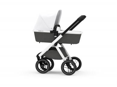 Universalus vežimėlis Dubatti 2in1 White/Melange black/White 2