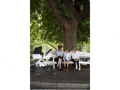 Universalus vežimėlis Dubatti 2in1 White/Melange black/White 6