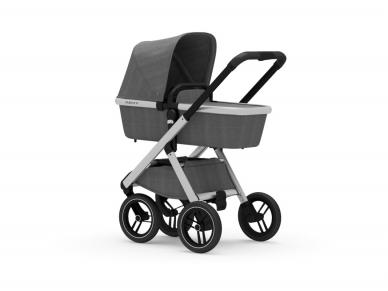 Universalus vežimėlis Dubatti 2in1 Silver/Melange Grey Melange Grey