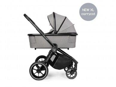 Universalus vežimėlis Muuvo Quick 3.0 Steel Grey XL lopšys