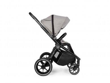Universalus vežimėlis Muuvo Quick 3.0 Steel Grey XL lopšys 2