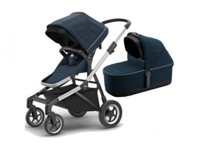 Universalus vežimėlis pametinukams Thule Sleek 2in1 navy blue 2