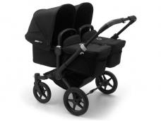 Vaikiškas universalus vežimėlis dvynukams Bugaboo donkey 3 twins black/ black/ black