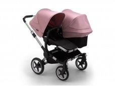 Vaikiškas universalus vežimėlis pametinukams Bugaboo Donkey 3  Duo Alu / Black / Soft pink