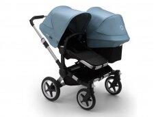 Vaikiškas universalus vežimėlis pametinukams Bugaboo Donkey 3  Duo Alu / Black / Vapor Blue